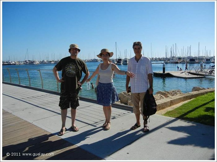 Daniel Klemmer, Gülay Princess and Michael Peuschl, Hillarys Boat Harbour, WA