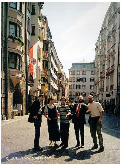 The Ensemble Aras in the downtown of Innsbruck (2000)