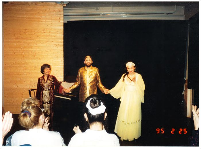 Sarah Loh, Josef Olt and Gülay Princess at Kleine Komödie, city of Salzburg (1995)