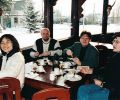 Feng-Chiu, Hristan, Piotr and Nariman at breakfast