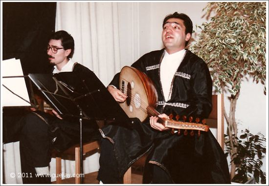 Nariman Hodjati and Dr. Amir Kurtaran at VHS Severinstrasse, Munich (1990)