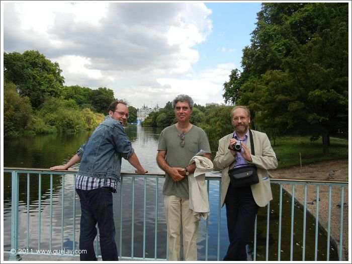 Daniel Klemmer, Josef Olt, Michael Preuschl at St James's Park, London