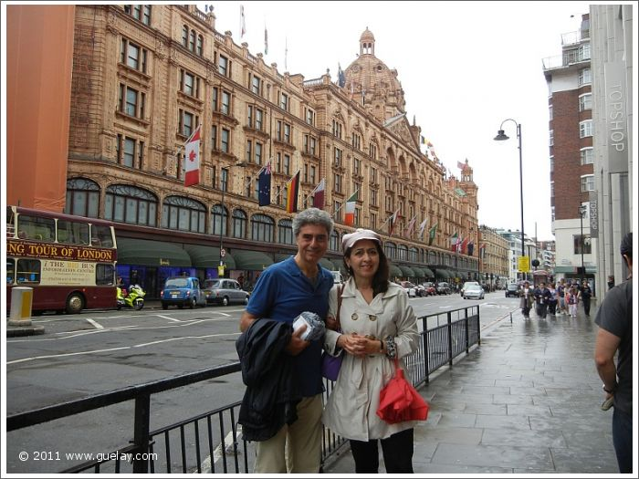 Michael Preuschl and Gülay Princess at Harrods, Knightsbridge, London