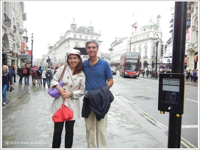 Gülay Princess and Michael Preuschl at Picadilly Circus, London