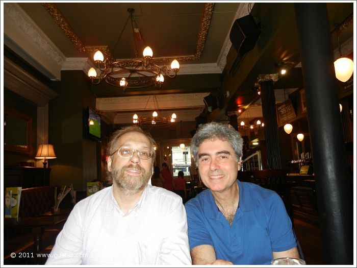 Josef Olt and Michael Preuschl at lunch in a typical pub