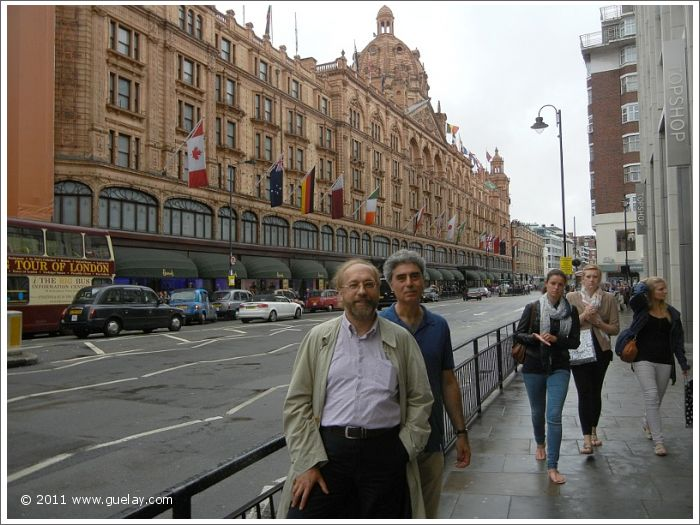 Michael Preuschl and Josef Olt at Harrods, Knightsbridge, London
