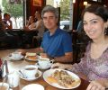 Gülay Princess & The Ensemble Aras at breakfast in Earl's Court, London
