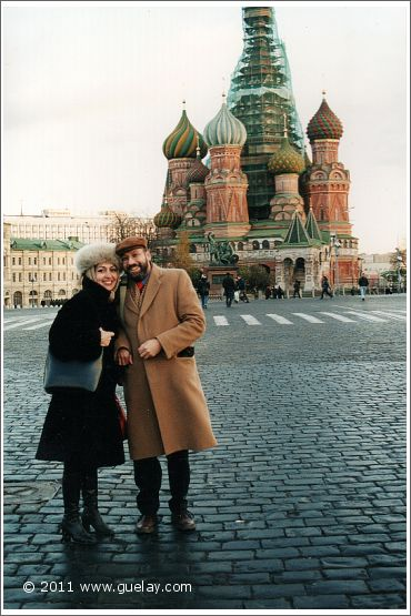Gülay Princess and Josef Olt at the famous Red Square