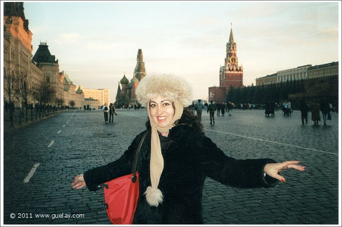 Gülay Princess at the famous Red Square