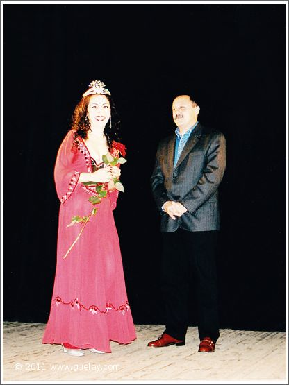 Gülay Princess and Yury Usachev at Young Actor's Musical Theatre in Moscow (2001)