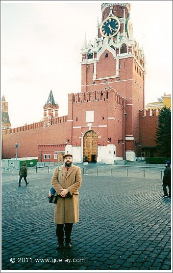Josef Olt at Kremlin's Spasskaya Tower in Moscow (2001)