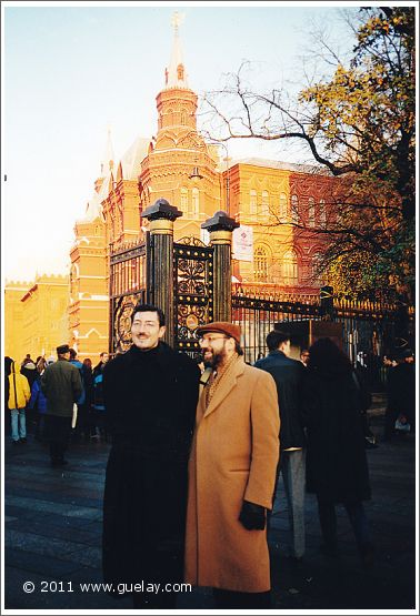 Josef Olt and Nariman Hodjati near Kremlin in Moscow (2001)