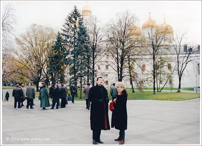Nariman Hodjati and Gülay Princess at Kremlin in Moscow (2001)