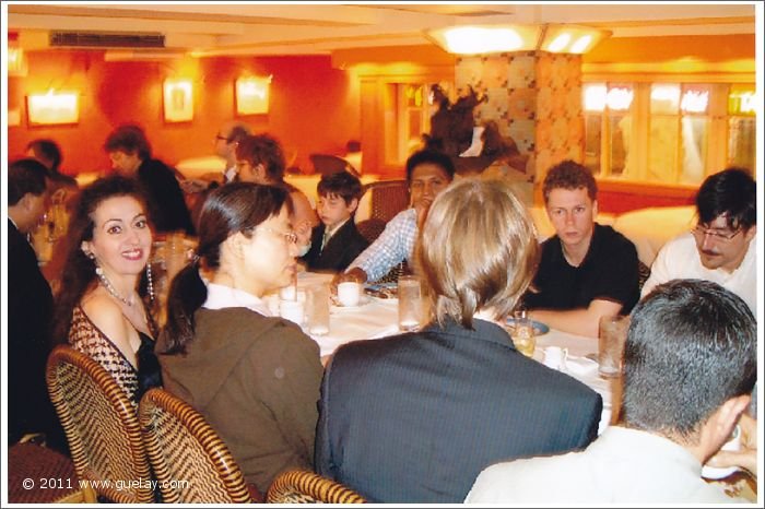 Gülay Princess & The Ensemble Aras at dinner after concert at Carnegie Hall (2005)