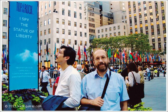 Nariman Hodjati and Josef Olt, Rockefeller Center, New York (2005)