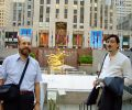 Josef Olt and Nariman Hodjati at Rockefeller Center, New York (2005)