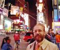Josef Olt at Time Square in Manhattan, New York (2005)