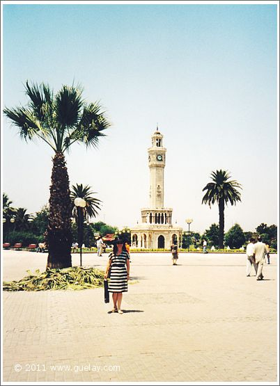 Gülay Princess at clock tower, Konak Square, Izmir (1998)