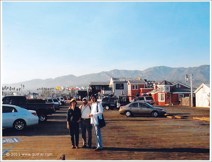 Feng-Chiu, Josef and Nariman at Stearns Wharf, Santa Barbara (2006)