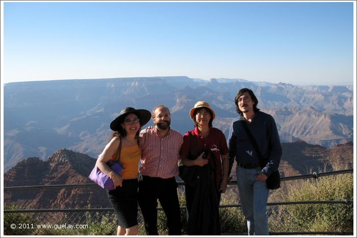Gülay Princess, Josef, Feng-Chiu and Nariman at Suth Rim, Grand Canyon, Arizona (2006)