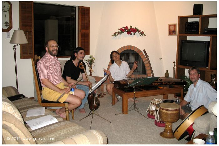 Josef. Nariman, Feng-Chiu and Todd while rehearsal in Lake Havasu City, Arizona (2006)