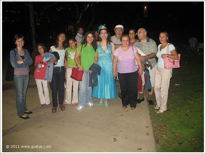 Gülay Princess after concert at Levitt Pavilion, Pasadena, California (2006)