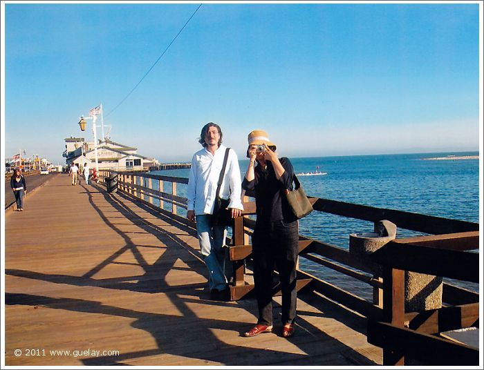 Nariman Hodjati and Ting Feng-Chiu at Stearns Wharf, Santa Barbara