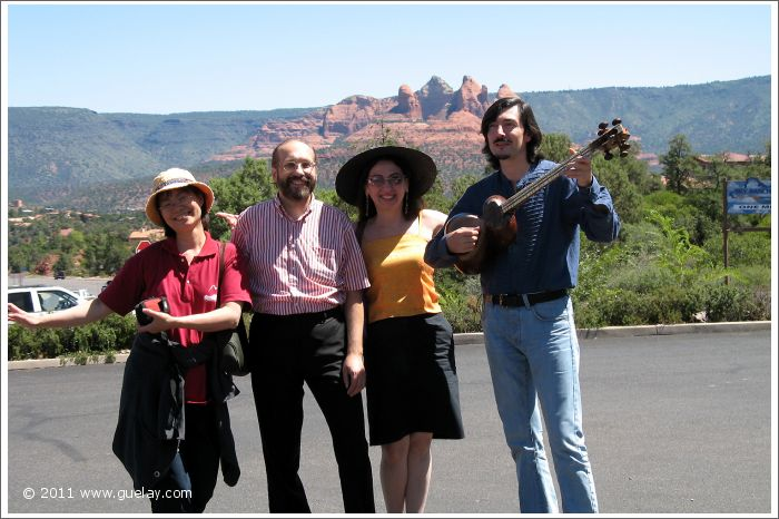 Feng-Chiu, Josef, Gülay Princess and Nariman in Sedona, Arizona (2006)
