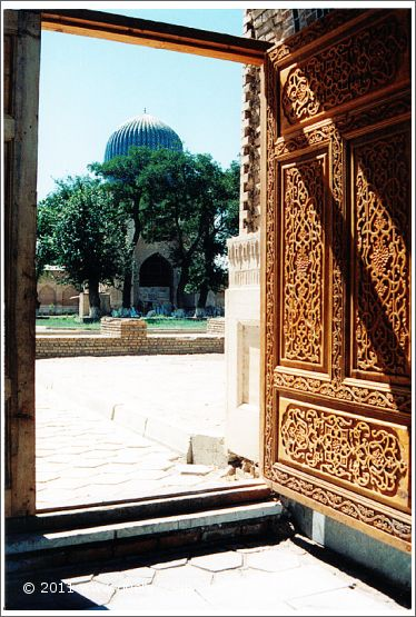 view from Bibi Khanym Mosque (1997)