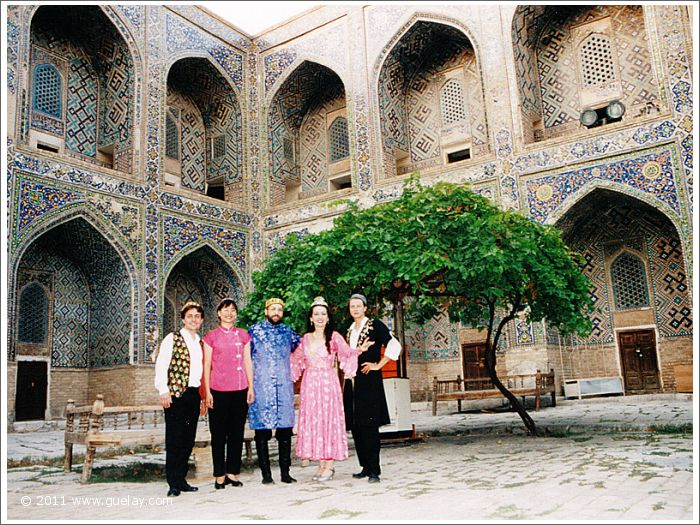 Gülay Princess & The Ensemble Aras in courtyard of Sher Dor Madrasah (1999)