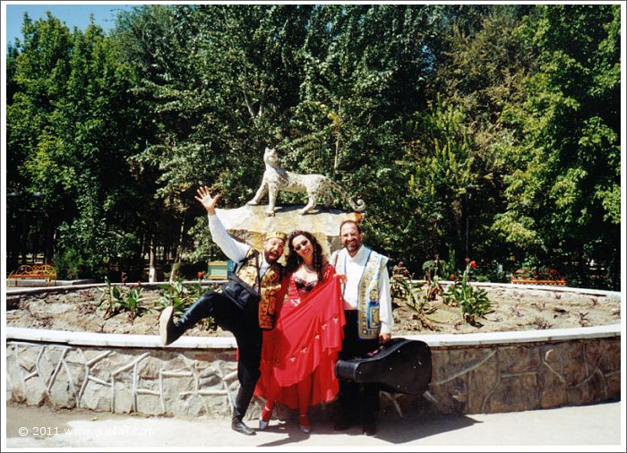 Josef, Asim and Gülay Princess in Samarkand at International Music Festival (1997)