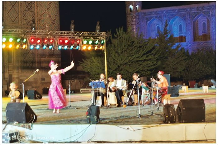 Gülay Princess & The Ensemble Aras at Registan Square, Samarkand (2003)