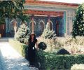 Gülay Princess in Samarkand at the Mausoleum of Imam al-Bukhari near Samarkand (1997)