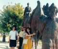 Fen-Chiu, Josef, Zafer and Gülay Princess at Silk-Road Memorial in Samarkand (2003)