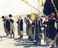 welcoming at Tashkent International Airport (1997)